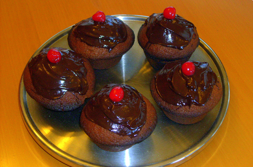 Cupcakes with chocolate flavour